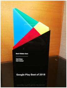 """滴滴国际版app获Google Play评选为本地区""""最具潜力应用""""奖"""
