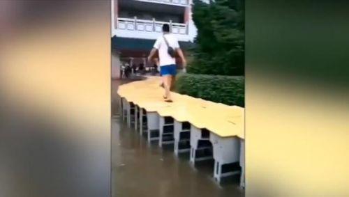 江西高考考场被淹怎么回事?江西高考考场被淹现场图曝光