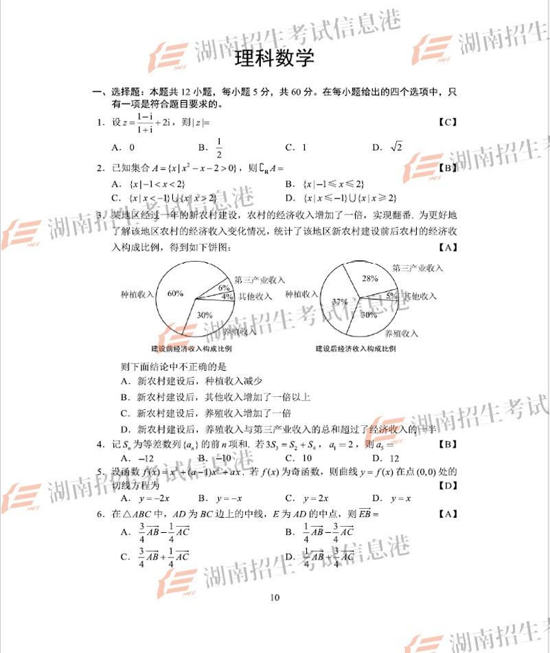 高考数学2019年全国卷1真题出炉 江苏高考数学和浙江高考数学到底哪个难