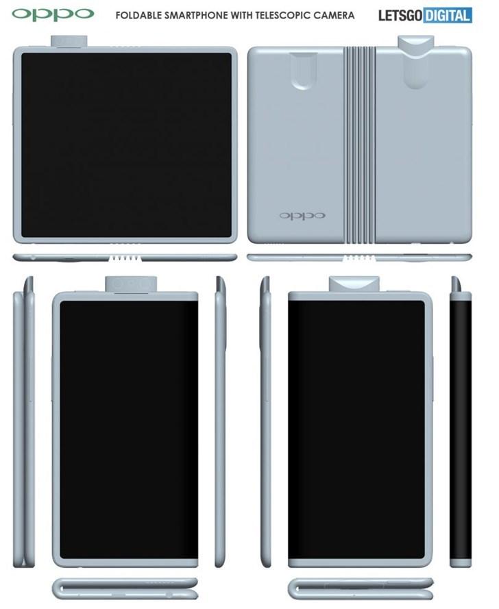 OPPO折叠屏专利曝光 前置摄像头回收弹出式