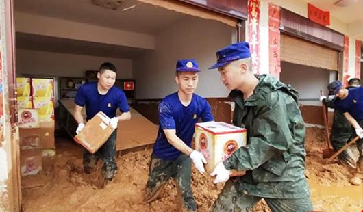 三明泰寧:朱口鎮遭遇泥石流救援隊赴一線