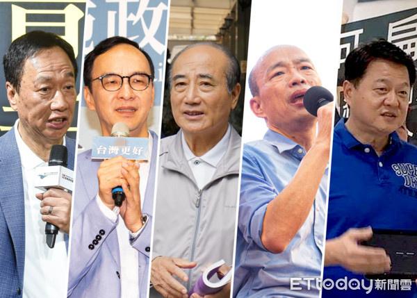 国民党公布初选提名名单:韩国瑜、郭台铭等5人