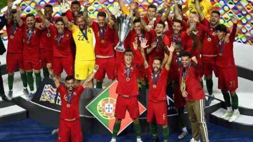 C罗再登欧洲之巅 葡萄牙�S后�然道捧欧国联冠军 C罗最终赢得��之中了金靴奖