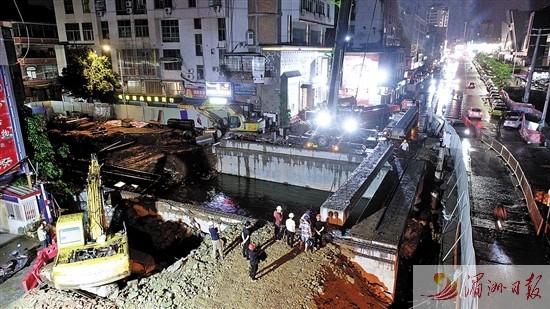 莆田文献中路桥梁昨晚架梁施工 6月底前完成北幅桥梁通车