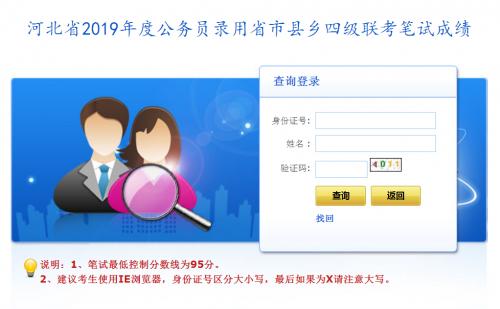 河北省考成绩查询入口 河北省考成绩出来了吗哪里可以查查询网址