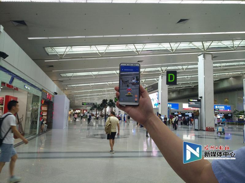 """""""天晴猪""""来了!福州机场启用AR导览"""
