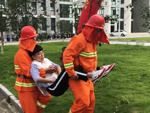 福建江夏学院组织开展消防灭火逃生演练