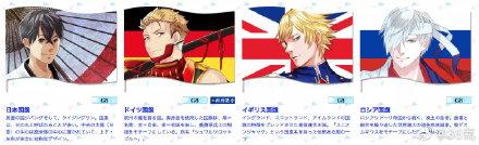 日本奥组委为各国制作动漫形象