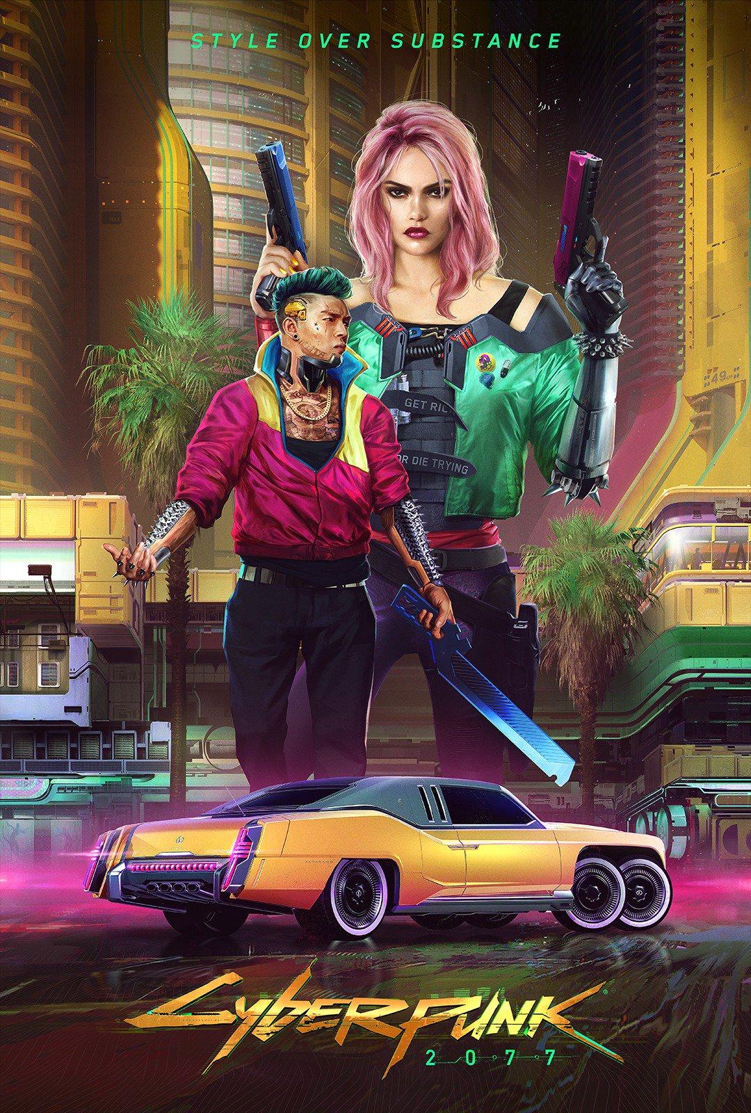 《賽博朋克2077》全新概念圖發布 官博解釋兩種主義