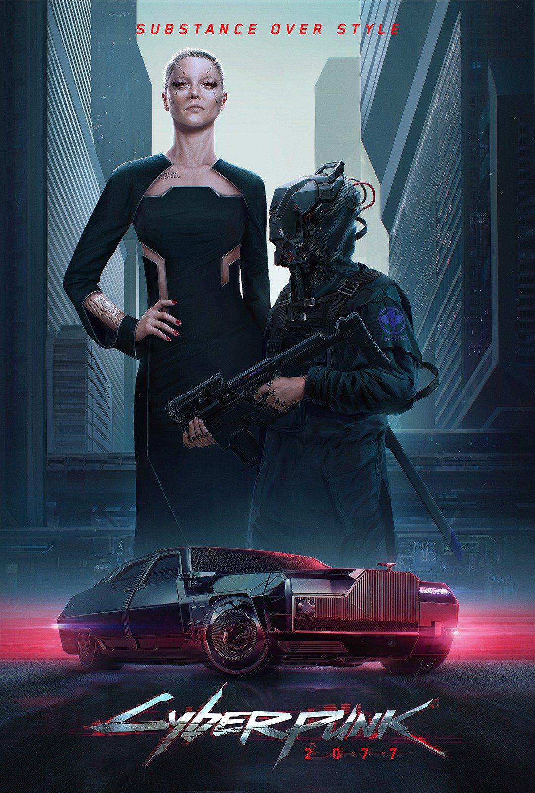 《赛博朋克2077》全新概念图发布 官博解释两种主义