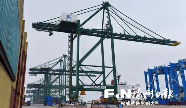 福州江陰港區新岸橋啟用 可滿足最大集裝箱船全天候作業