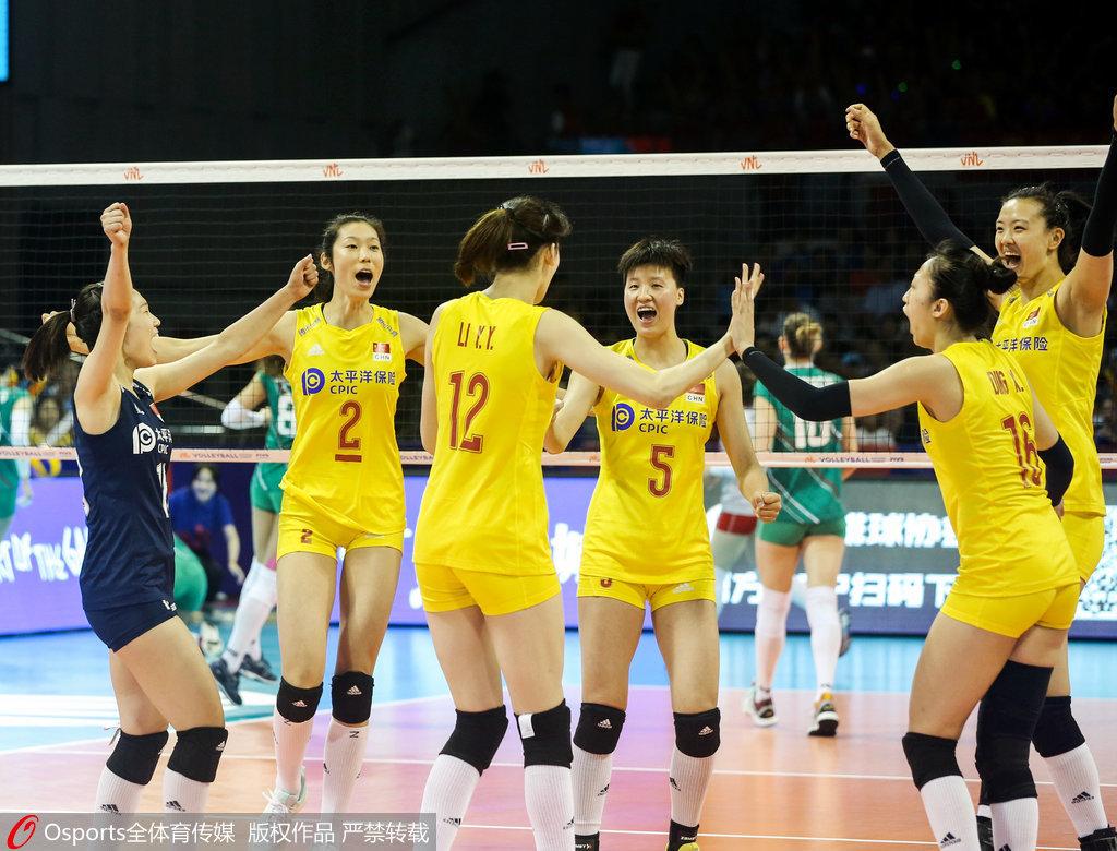 中国女排3-0保加利亚 朱婷首发获北仑站2连胜