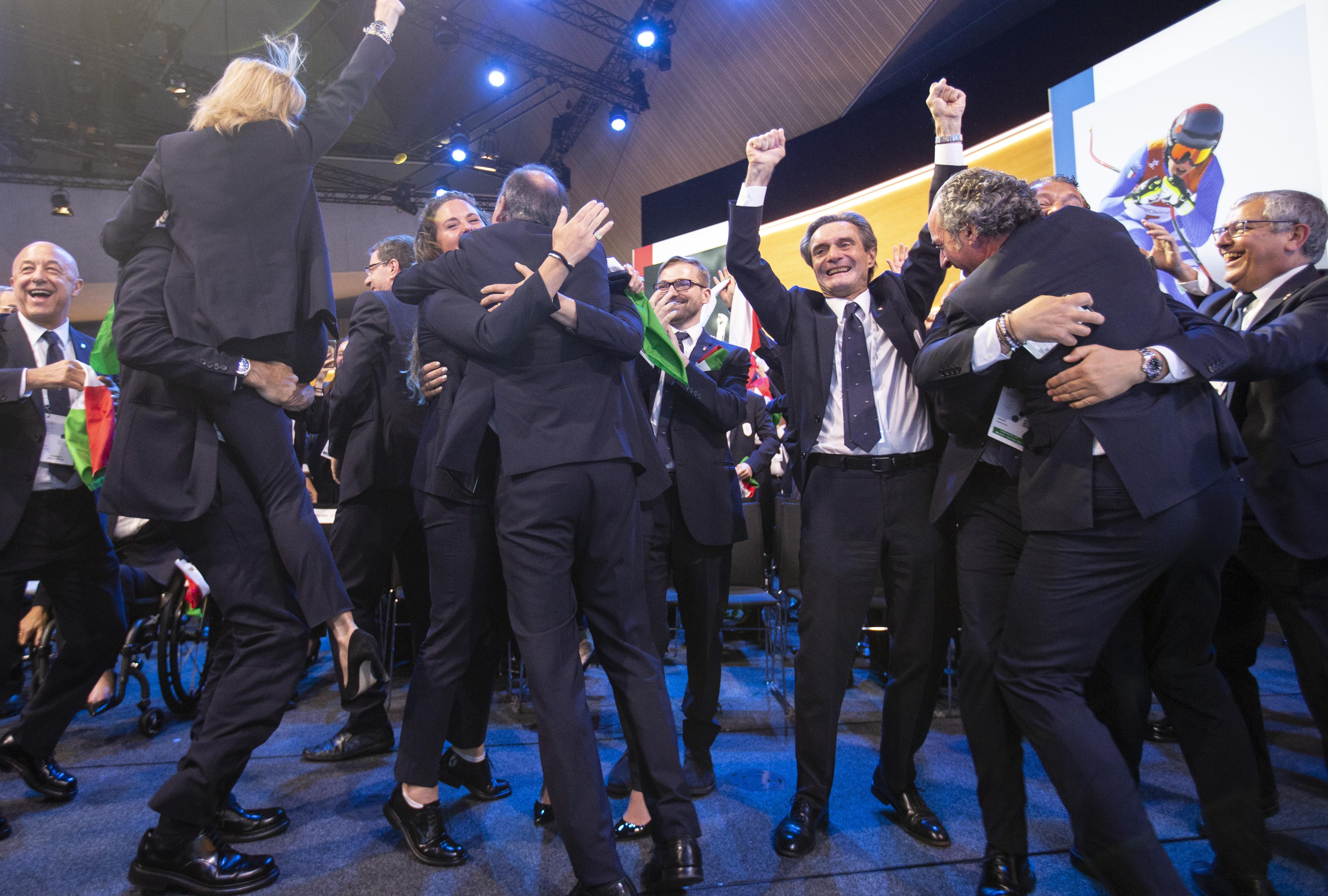 意大利获得2026冬奥会举办权 以13票优势击败瑞典