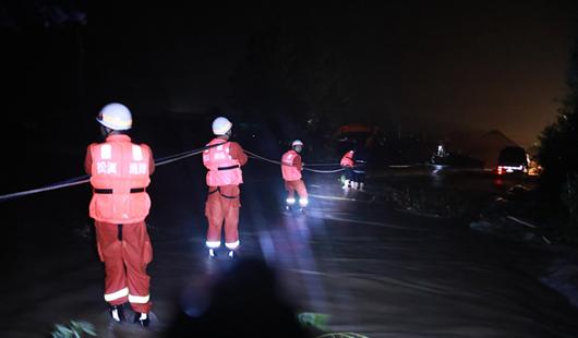 直击:福建南平松溪县遭遇新一轮暴雨袭击