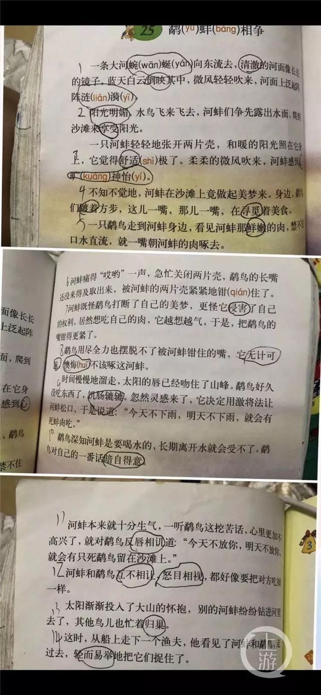 """语文课本又错了?!小学生质疑""""鹬蚌相争"""",出版社这样回应"""