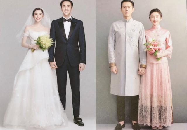 唐藝昕現身似婚禮彩排,粉色抹胸裙端莊典雅,造型與婚照發型一致