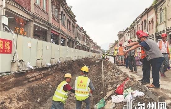 泉州市区中山路综合提升工程开展防汛应急救援演练