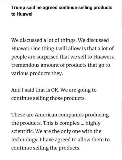 特朗普允许美国公司向华为出售零件详细情况 美国服软了吗?