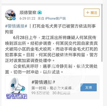 打金毛犬男子被拘怎么回事 广东金毛咬死贵宾案事件始末回顾,3u8746