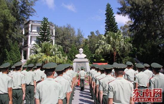武警漳州支队组织党员干部参观谷文昌纪念馆