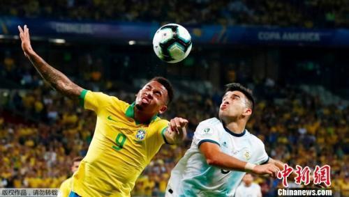 巴西2-0阿根廷比賽精彩回顧 挺進本土美洲杯決賽