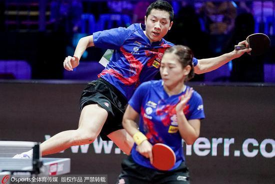 韓國賽國乒雙打首輪全部3-0 許昕劉詩雯雙線晉級