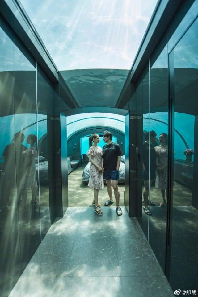 郎朗曬與妻子馬爾代夫蜜月旅行照,夫妻手牽手深情對視甜蜜滿屏