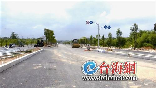 漳州市區北倉路一標段即將具備通車條件