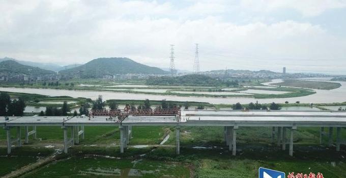 长福高速A3合同段建设提速 项目进入冲刺阶段
