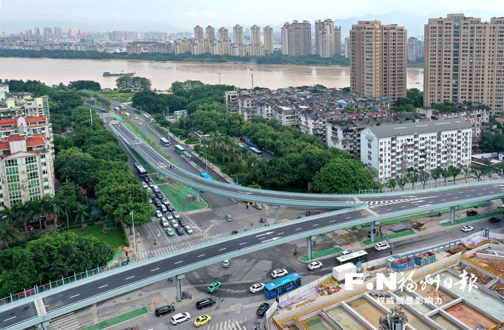 福州杨桥路江滨路口改造工程10日通车 出城时间缩短