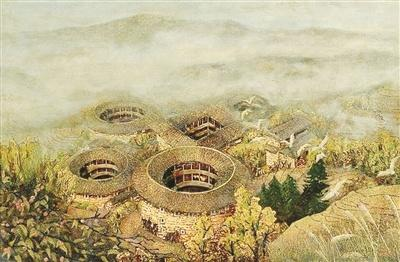 漳州画家以漆画向全世界推介南靖土楼