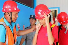 廈門集美:學生暑期安全教育進工地