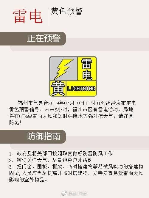 福州市防指启动防暴雨Ⅳ级应急响应