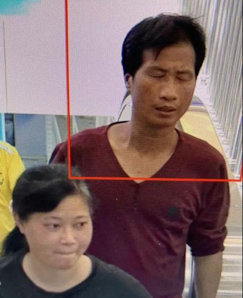 7月4日高铁站监控梁、谢二人出现画面