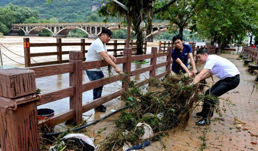 福建武夷山:眾志成城抗洪救災