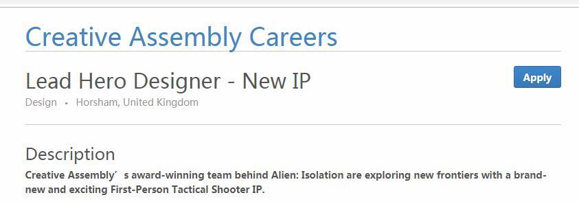 《全战》开发商CA新IP细节初窥 科幻风英雄类FPS
