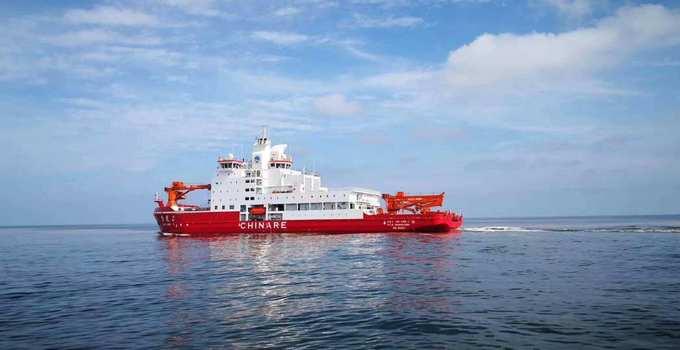 """我国自主建造的""""雪龙2""""号极地科考破冰船交付使用"""