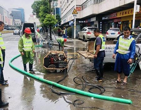 应对强降雨 福州城区排水防涝持续作战