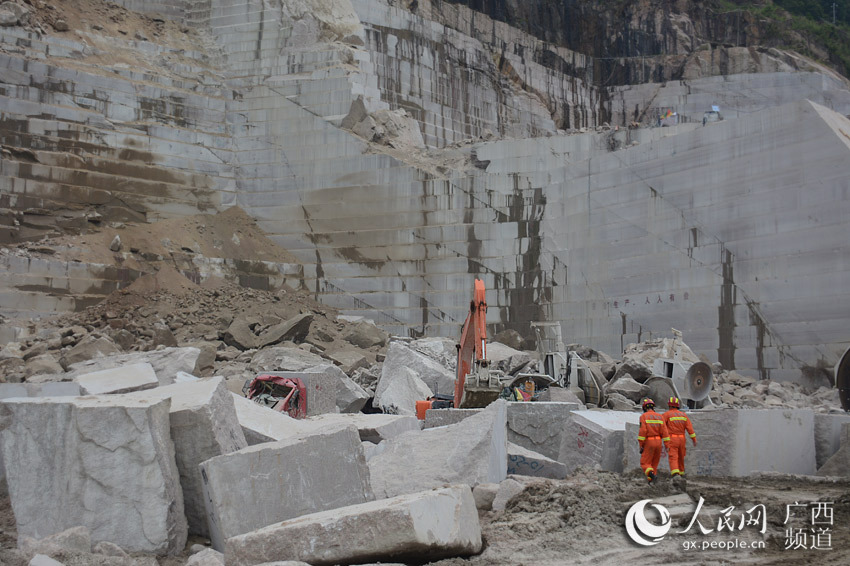 广西矿山发生塌方怎么回事? 广西矿山发生塌方现场照片曝光