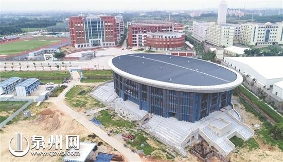 晋江职业中专学校体育馆主馆明年2月可投用