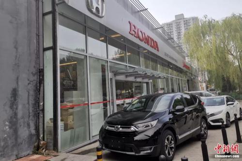 东风本田4S店陈列的新车。张旭 摄