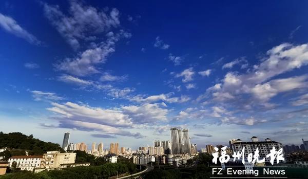 """台风""""丹娜丝""""带着热带低压跑了 福州又迎高温天气"""