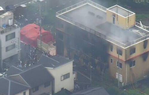 火灾现场(图源:NHK)