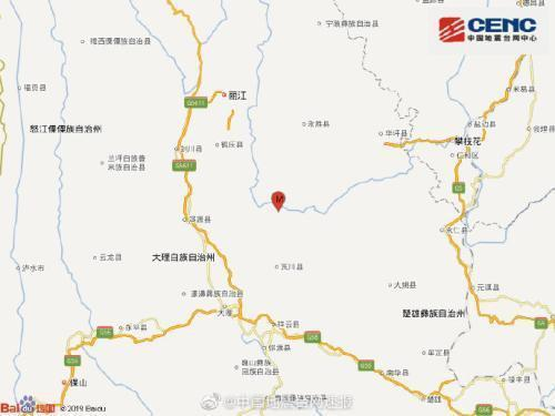 永胜县4.9级地震什么情况?永胜县4.9级地震严重吗有没有人员伤亡