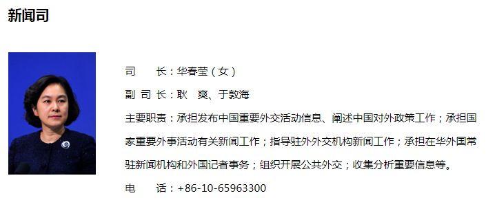 华春莹接棒陆慷任外交部新闻司司长 华春莹个人资料介绍