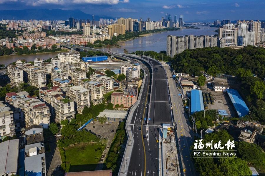 福州洪山桥拓建3座新桥梁投用 上桥进城无红绿灯