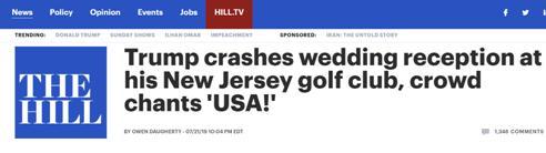 特朗普闯婚宴现场怎么回事 特朗普闯婚宴现场事件始末