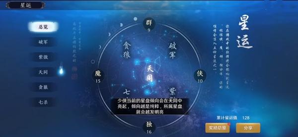 天涯明月刀手游星运命理怎么玩 星运命理系统介绍