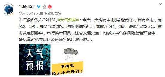 北京暴雨 提醒:尽量选择公共交通工具出行