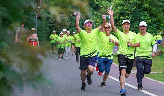 福建漳州:绿道慢跑 乐享生活